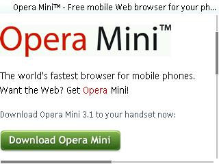 Opera Mini を入れてみました
