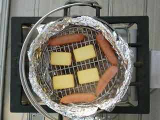 チーズとソーセージ