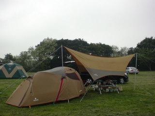 キャンプ場の朝です